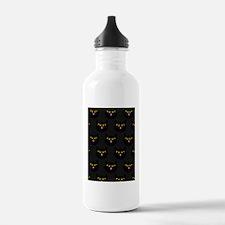shower cat halloween b Water Bottle