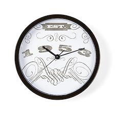 1953 Vintage Birthday (Blackoak) Wall Clock