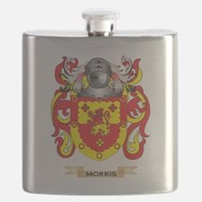 Morris-(England) Coat of Arms - Family Crest Flask