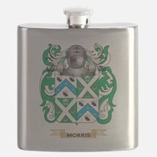 Morris-3 Coat of Arms - Family Crest Flask