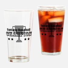 Fantasy Baseball Champion Drinking Glass