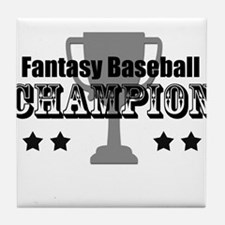 Fantasy Baseball Champion Tile Coaster