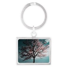 Cherry Blossom Tree - Pink and  Landscape Keychain