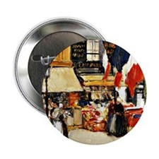 "Bastille Day, Paris - painting by Chi 2.25"" Button"