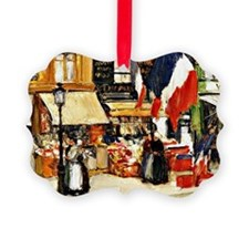 Bastille Day, Paris - painting by Ornament