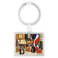 Bastille Day, Paris - painting  Landscape Keychain