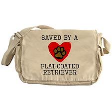 Saved By A Flat-Coated Retriever Messenger Bag