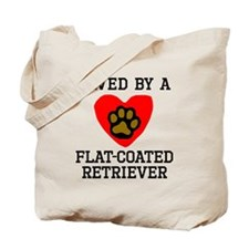 Saved By A Flat-Coated Retriever Tote Bag