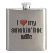 """Love My Smokin' Hot Wife"" Flask"