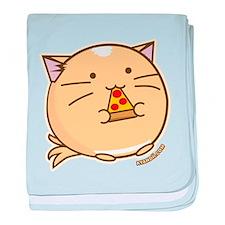 Fuzzballs Pizza Cat baby blanket