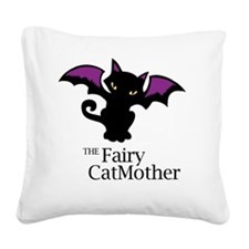 Fairy CatMother Square Canvas Pillow