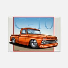 Orange_C10_Stepside Rectangle Magnet