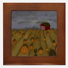 Pumpkin Patch Framed Tile