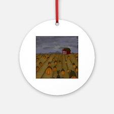 Pumpkin Patch Round Ornament
