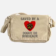Saved By A Dogue de Bordeaux Messenger Bag