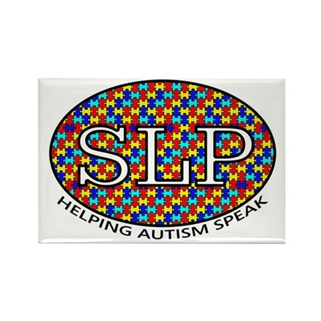 SLP Autism Rectangle Magnet (10 pack)