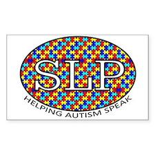 SLP Autism Rectangle Decal