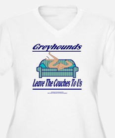 LEAVE THE COUCHES TO US WOMENS + SIZE WHT V NECK T