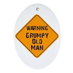 THe Grumpy Oval Ornament