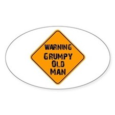THe Grumpy Oval Decal