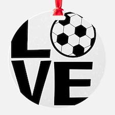 Love Soccer Ornament