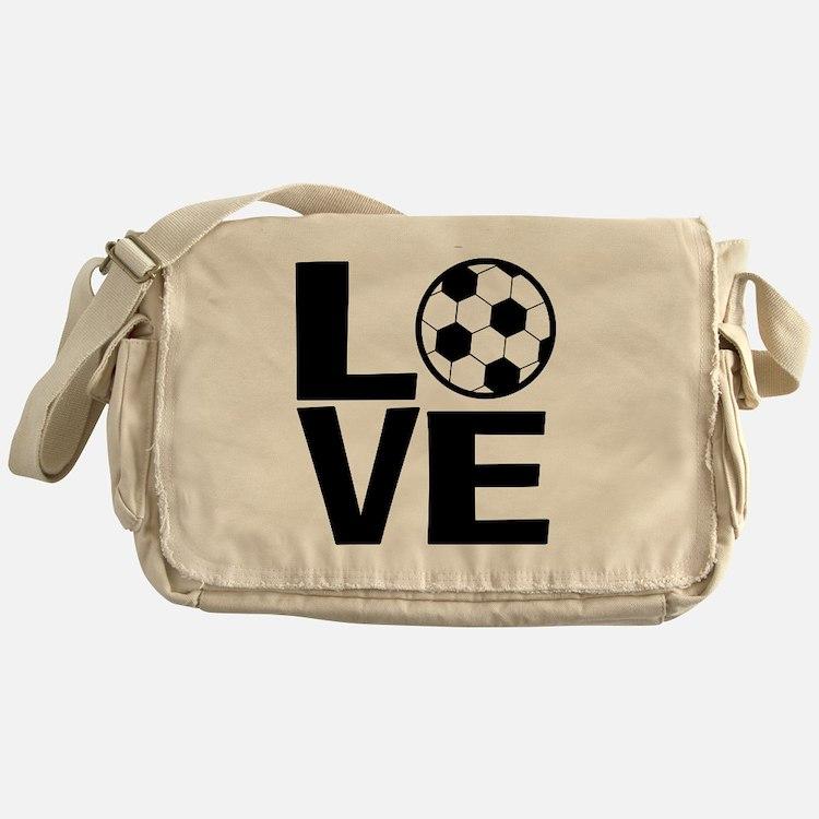 Love Soccer Messenger Bag