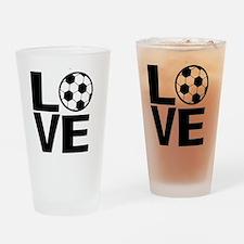 Love Soccer Drinking Glass