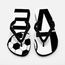 Love Soccer Flip Flops