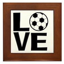 Love Soccer Framed Tile