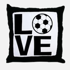 Love Soccer Throw Pillow