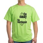 Dummy/Ventriloquist Mature Humor Green T-Shirt