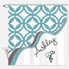 Custom Name Pattern Shower Curtain
