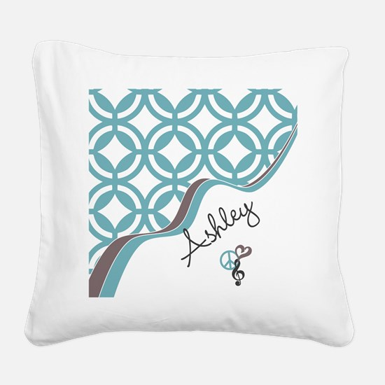 Custom Name Pattern Square Canvas Pillow