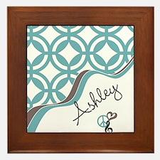 Custom Name Pattern Framed Tile
