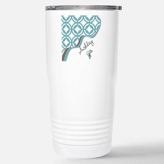 Custom Name Pattern Stainless Steel Travel Mug