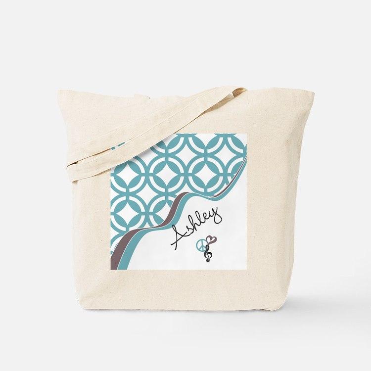 Custom Name Pattern Tote Bag