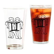 Ryan James Astrology Signs Gemini Drinking Glass