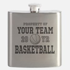 Personalized Your Team Text Basketball Flask