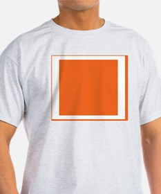 Orange Color Block T-Shirt