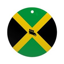 Team Jamaica Bobsled Ornament (Round)