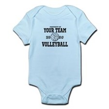 Personalized Property of Your Team Volleyball Infa