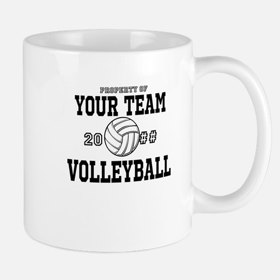 Personalized Property of Your Team Volleyball Mug