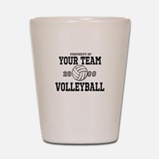 Personalized Property of Your Team Volleyball Shot