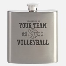 Personalized Property of Your Team Volleyball Flas