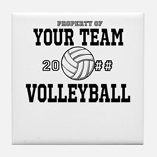 Personalized Property of Your Team Volleyball Tile