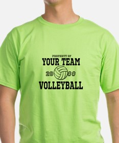 Personalized Property of Your Team Volleyball Gree