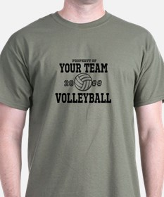 Personalized Property of Your Team Volleyball T-Shirt