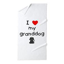 I love my granddog (4) Beach Towel