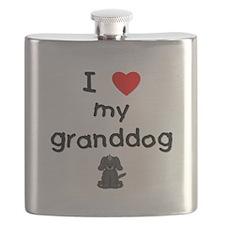 I love my granddog (4) Flask