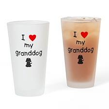 I love my granddog (4) Drinking Glass